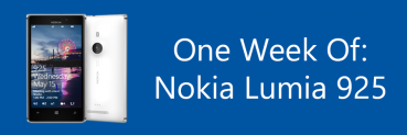 Nokia Lumia 925: One Week Of