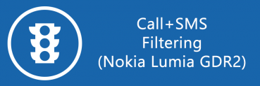 Nokia Lumia WP8s with GDR2 get call+SMS filter