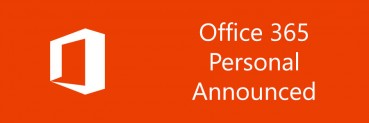 Microsoft Announces Office 365 Personal