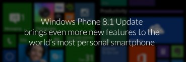 New Update to Windows Phone 8.1